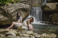 Lungo il torrente (adrianaaprati) Tags: ritratto portrait bellezza beaut beauty tenderness douceur romantic femminilit femininity fiume torrente river acqua water rivire waterfall cascata