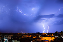 Earth, Water, Fire, Wind (nikosmchairas) Tags: earth water fire wind cloud clouds weather elements element thunder strike    lightning    storm greece greek kozani  sky night sigma 24mm art 24 mm 14 f14 nikon d610 rain