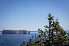 Perc (gerf88) Tags: gaspesie rock summer saintlaurent tree gulf sky canada 2016 blue water perce