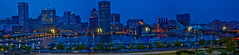 Nine Shot Stitch of Baltimore's Inner Harbor (Bill Varney) Tags: baltimore maryland cityscape night light scape water color panorama pano wide view billvarney city outdoor landscape architecture harbor ship boat waterfront