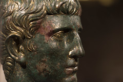 Roman gilded bronze portait of a man from Augusta Taurinorum, 2 (diffendale) Tags: museodiantichit torino turin piemonte piedmont italy italia museum museo museu muse   mze artifact display exhibit  ancient antico antique archaeological archeologico roman romano rmisch romain   roma bronze bronzo portrait ritratto male mascihile man uomo julioclaudian giulioclaudio 1stcbce 1stcce late1stcbce early1stcce lastquarter1stcbce 4thquarter1stcbce 1stquarter1stcce 1sthalf1stcce 2ndhalf1stcbce imperial romanempire augustataurinorum pleiades:findspot=383580