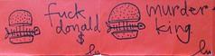 (lu.glue) Tags: lu luglue sticker kleber streetart drawing handdrawn handmade dessin drawn zeichnung disegno disegnato creature critical kritisch red black rot schwarz rouge noir rosso nero rojo negro critic basel fineliner message statement