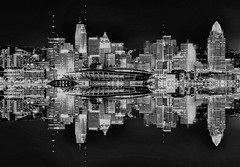 Reflections from downtown Cincinnati, Ohio, U.S.A. / The Queen City (Jorge Marco Molina) Tags: cincinnati ohio usa thequeencity ohioriver buckeyestate midwest cosmopolitan metro metropolitan metropolis centralbusinessdistrict skyline building highrise skyscraper architecture commercialproperty realestate cityscape longexposure citylights nikond90 jorgemolina monochromatic blacksky blackandwhite reflections residential americancity density porkapolis carewtower ohiorivercities ohioarchitecture