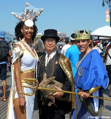 Dr. Takeshi Yamada and Seara (Coney Island Sea Rabbit) at the Mermaid Parade by the Coney Island Beach in Brooklyn, New York on June 18, 2016.  20160618SAT MERMAID PARADE. DSCN6620=p-1010C2 (searabbits23) Tags: searabbit seara takeshiyamada  taxidermy roguetaxidermy mart strange cryptozoology uma ufo esp curiosities oddities globalwarming climategate dragon mermaid unicorn art artist alchemy entertainer performer famous sexy playboy bikini fashion vogue goth gothic vampire steampunk barrackobama billclinton billgates sideshow freakshow star king pop god angel celebrity genius amc immortalized tv immortalizer japanese asian mardigras tophat google yahoo bing aol cnn coneyisland brooklyn newyork leonardodavinci damienhirst jeffkoons takashimurakami vangogh pablopicasso salvadordali waltdisney donaldtrump hillaryclinton endangeredspecies parade