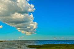 Land; sea, and sky... (tomk630) Tags: nature sky cloud bay cape cod blue green colors usa massachusetts