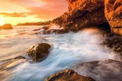 Temperatures rising quickly! (mnlphotography) Tags: beach ocean coast longexposure water sunset cliffs lagunabeach laguna induro canon 7dmarkii 7dmark2 7d tokina tokinaaf1224mmf4 tokina1224mm