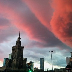 Incredible sky over #Warsaw the other night. (BohemianTraveler) Tags: instagram travel
