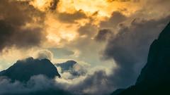 Before The Light Takes Us (Bokehschtig (ON/OFF)) Tags: clouds cloudporn cloudscape cloudy mountains mountain berge alpen alps germanalps bavaria sunset sunrise sundown wolken mist nebel bergmassiv cloudformation sonya7 sonyalpha sonyalpha7 samyang samyang1352 walimex walimexpro1352
