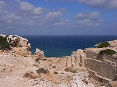 cap de cavalleria (the incredible how (intermitten.t)) Tags: menorca espaa balearicislands baleares illesbalears minorca capdecavalleria northernmostpoint sea coast rough quarry 20151001 3040 espaa