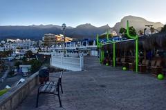 Costa Adeje (Nige H (Thanks for 6.5m views)) Tags: landscape nature resort mountains sunrise bar promenade costaadeje tenerife