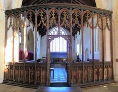 The Cawston Rood Screen (badger_beard) Tags: cawston church st saint agnes norfolk rood screen 15th century apostles saints chancel arch