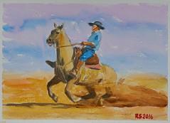 DSC03704_low (RafaelSan) Tags: cavalo caballo criollo crioulo horse acuarela watercolor