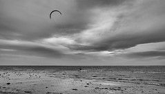 Kitesurfing (pm69photography.uk) Tags: exmouth beach devon kitesurfing powerkiting sand bw blackandwhite xt2 fuji 16mm14