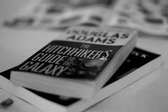 DSC_3678.jpg (JohannesKullmann) Tags: book buch sci fi fiction adams douglas classic black white schwarz weis kontrast contrast bokeh tiefenschrfe