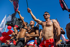 Sitges,Spain. June 19th, 2016: Half naked members of the gay community on the pride parade 2016 in Sitges (digoarpi1) Tags: pride gay transvestite lesbian homosexual spain celebrate celebration bisexual discrimination sitges participant minoritygroups queer color colorful homosexuality demonstration proud rainbow identity diversity community tolerance event procession orientation parade sexual festival transgender bisexuality socialissues 2016