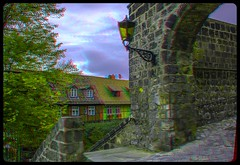 Quedlinburg Castle 3-D / Anaglyph / Stereoscopy / HDR / Raw (Stereotron) Tags: europe germany sachsenanhalt saxonyanhalt harz mountains gebirge quedlinburg quietearth architecture medieval midage anaglyph anaglyph3d redcyan redgreen optimized anaglyphic anabuilder 3d 3dphoto 3dstereo 3rddimension spatial stereo stereo3d stereophoto stereophotography stereoscopic stereoscopy stereotron threedimensional stereoview stereophotomaker stereophotograph 3dpicture 3dglasses 3dimage twin canon eos 550d yongnuo radio transmitter remote control synchron in synch kitlens 1855mm tonemapping hdr hdri raw