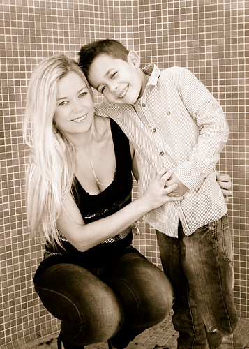 stunning mother and son