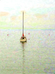 calm mooring (Bill Sargent) Tags: ocean summer vacation painterly art beach water digital photomanipulation photoshop manipulated painting studio photography harbor boat photo spring image massachusetts digitalart scenic newengland olympus digitalpainting photograph impressionism imagemanipulation impressionist sargent coldbrook manipulatedimage coldbrookstudio