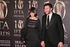 Chris O'Dowd and Dawn Porter at Irish Film and Television Awards 2013 at the Convention Centre Dublin