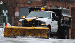 Skidmore College Grounds Services Snow Plow (zamboni-man) Tags: skidmore skid more saratoga county police fire snow winter storn nemo weather channel safety whelen ice snowing plowing plow fisher yellow slat sander sanding grounds facilities dinning hall case walkway parking lot