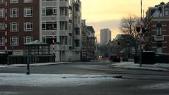 Plantsoenbrug (Arend Jan Wonink) Tags: winter snow sunrise sneeuw groningen zonsopgang wilhelminatoren westersingel rijksmonument leliesingel siebejanbouma plantsoenbrug