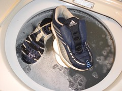 2378457010101387008UPMdMc_fs (CallalilyGazer) Tags: shoes bleach dirty sneakers tennis worn smelly stinky oldshoes smellyshoes dirtysneakers muddysneakers wetsneakers washsneakers