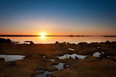 Sunny day sunset (Kristin Sig) Tags: winter sunset iceland seaside day sunny lftanes