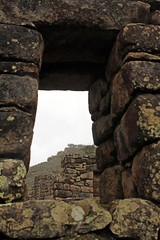 Machu Picchu in the mist - the Inca trapezoid