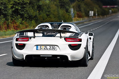 918 (Keno Zache) Tags: auto white car canon lens photography eos photo power photoshoot ps spyder prototype porsche hybrid electronic luxury 70200 nrburgring 918 keno testmule hypercar 400d zache