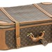 3004. Leather Monogram Canvas Suitcase, Louis Vuitton