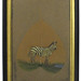 274. Original Painting of a Zebra on an Exotic Leaf