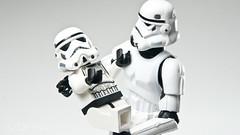 "WK 09 - ""It's a girl !"" (Templar_Tan) Tags: new baby born star starwars lego sony stormtrooper wars a700 sonystrobist"