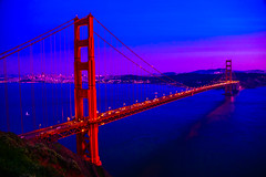 Golden Gate Bridge at Night - San Francisco California (mbell1975) Tags: ocean sf sanfrancisco california ca bridge blue sunset sea sky orange usa sun water set night de puente 1 golden evening bay la us highway gate san francisco purple unitedstates pacific bur calif ponte hwy clear 101 most pch pont porte bro brug tor dor northern brücke sausalito brig köprü goldenes bouwwerk photosandcalendar worldwidelandscapes panoramafotográfico thebestofmimamorsgroups goldenestorbrücke mygearandme flickrsportal blinkagain magicmomentsinyourlifelevel2 magicmomentsinyourlifelevel1 ilobsterit