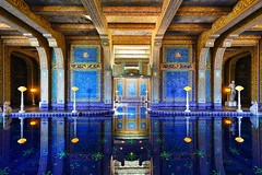 Roman Pool (boingyman.) Tags: california travel castle pool architecture canon indoor tiles handheld hearstcastle mosiac 1022 romanpool t2i boingyman