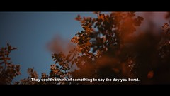 The day you burst. (Lill-Veronica Skoglund) Tags: music cinema film movie lyrics screenshot still text filmstill cinematic subtitles