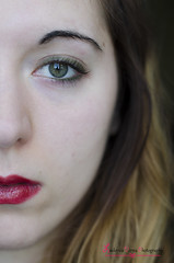 25 - Red lips; (Ludovica Verna Photography) Tags: red portrait italy brown selfportrait verde green eye face portraits self 50mm eyes nikon italia faces lips occhi blonde lip autoritratto mm 5100 nikkor f18 18 50 reds rosso ritratti ritratto occhio rossi marrone verdi facce faccia biondo labbra ritrattare d5100