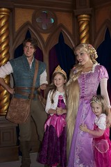 Fantasy Faire at Disneyland (insidethemagic) Tags: princess disneyland belle rapunzel beautyandthebeast fantasyland tangled royaltheatre royalhall fantasyfaire