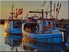 Fishing boats in the evening light (Ostseetroll) Tags: light boats evening fishing olympus balticsea timmendorf ostsee abendlicht poel fischerboote e620