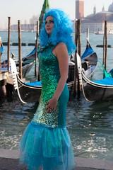 Mermaid looking outfit (Alaskan Dude) Tags: travel venice people italy portraits europe italia venise carnevale venezia venedig masqueraders 2013venicecarnavale 2013carnavalevenezia
