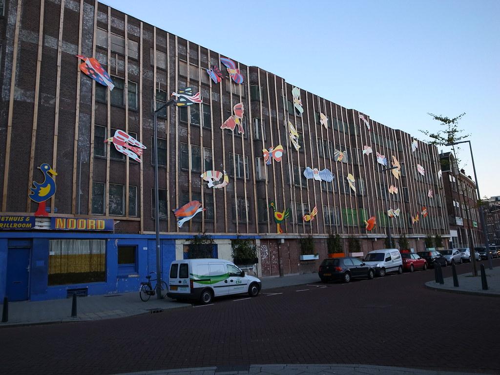 colourful animal decorations, Rotterdam Noord