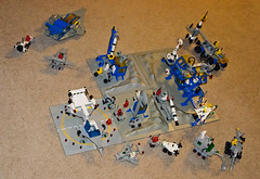 Lego Space Classic (InSapphoWeTrust) Tags: lego spaceshuttle 6861 shuttlecraft 920 928 442 483 mobilelab 6870 497 462 891 6880 6950 6901 6842 6823 897 legospace 6929 6971 galaxyexplorer spaceprobelauncher mobilerockettransport rocketlaunchpad starfleetvoyager surfacetransport alpha1rocketbase surfaceexplorer mobilerocketlauncher x1patrolcraft intergalacticcommandbase twoseaterspacescooter spacecruiserwithmoonbase