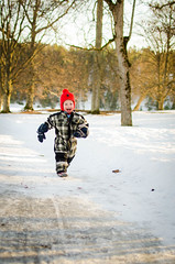 Run to the hills! (Jens Sderblom) Tags: park trees winter boy snow barn 35mm happy spring nikon child sweden stockholm son running sverige scandinavia sn tyres pojke slottspark d7000
