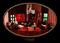 H. P. Lovecraft's Study (Xenomurphy) Tags: summer lego gothic providence study cthulhu lovecraft horror artifact author hplovecraft necronomicon moc oldones