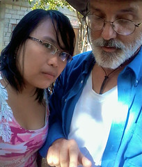 Eliza and Mike (mikeeliza) Tags: pink red woman brown white man black hot girl beautiful hair beard asian island glasses couple pretty skin cut low philippines young blouse filipina brunette cleavage luzon caucasian interracial mikeeliza