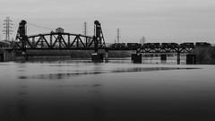 14th Street Bridge (David G Ruth) Tags: bridge white black train nikon downtown ky indiana engines louisville csx d3200