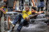(NevaSpend) Tags: summer vacation portrait paris france nikon streetperformers candid eiffeltower inflatable handheld lounging transparent puma 2008 chucks hdr comverse d40 nevaspend