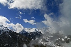 View of Val d'Anniviers in Switzerland - Explore (lathuy) Tags: sky panorama snow ski mountains alps clouds montagne alpes switzerland high suisse altitude explore ciel val neige matterhorn nuages wallis cpl valais cervin weisshorn anniviers saintluc explored