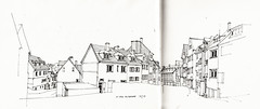 In der Altstadt (Flaf) Tags: house pen ink drawing platz frame florian altstadt siegen halftimbered freie fachwerk fachwerkhaus schiefer flaf metzgerstrase afflerbach zeichnerei