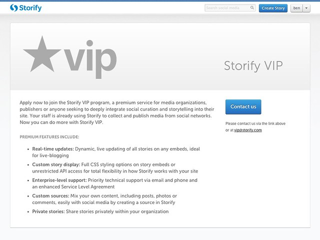 storify-vip screenshot