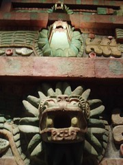 Feathered Serpent Heads (Aidan McRae Thomson) Tags: museum mexico ancient mexicocity aztec teotihuacan museo archaeological museonacionaldeantropologia quetzelcoatl